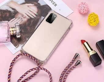 DigerUK case Compatible with Samsung Galaxy S8 Plus Soft TPU Silicone RubberAdjustable Lanyard Practical Lanyard.