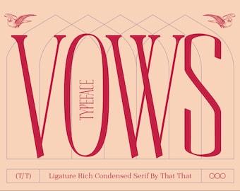 Vows elegant vintage serif font