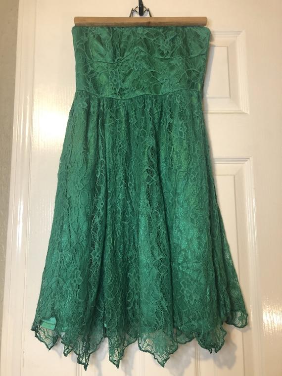 Green Dress, Lace Dress, Sleeveless Dress, Sweethe