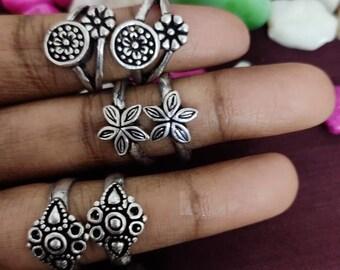 Pink Footrings Golden Footrings  Bichiya 925 Sterling Silver Crystal Adjustable Pair 2 Handmade Bichiya wedding jewelry India Bridal