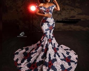 African print dress Ankara dress African clothing Ankara design African women outfit African attire African wax print Ankara maxi dress