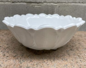 Basketweave Milk Glass Bowl  Vintage Milk Glass Candy Dish Bowl  Retro Basket Weave Milk Glass Bowl Dish  Antique Milk Glass Decor Bowl