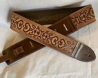 Brown Stonewashed Guitar Strap