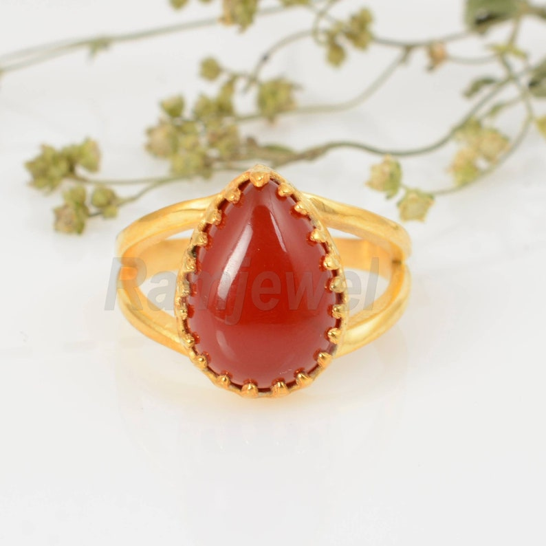 Carnelian Ring,Handmade Ring,Unique Ring,Boho Ring,Anniversary Ring,Wedding Ring,Vintage Ring,Gift Ring,Deco Ring,Gift For Her