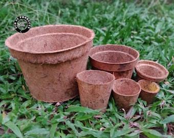 Natural Organic Coco Coir Pots   Natural durable Coir Pots   Coconut Basket Seedling Cups   Round Pots