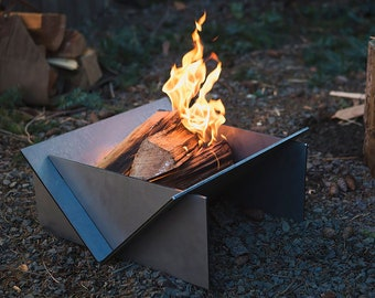 Stainless Steel Fire Pit, Collapsible Fire Pit, Steel Fire Place, Camping Grill, Black Metal Fire Pit, Steel Fire Pit, Outdoor Fire Place