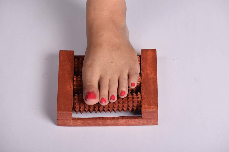Brown Iwud Foot and Body; Stress Acupressure and Pain Relief 3 Roller Massager