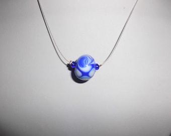 Blue Strudel - Glass Bead made of Murano Glass