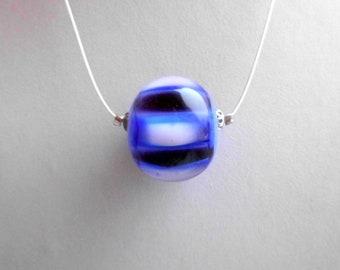 Blue striped bead