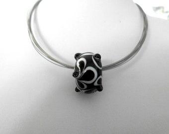 Black beauty, Murano glass bead, crafts