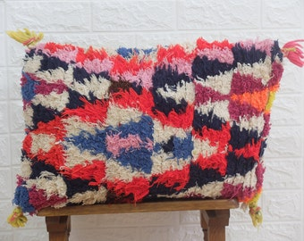 Made from old rugs-Free shipping 15.5/'/'12/'/' Vintage Moroccan Berber Pillow colourful-cushion berber Handmade-Natural Wool-Moroccan Cover