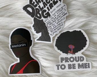 Nurse stickers Black girl magic stickers melanin African American decorative stickers