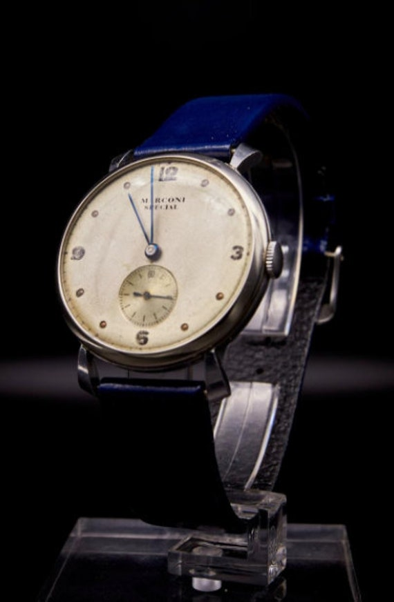 Vintage 1930s Rolex Marconi Men's Watch - Silver c