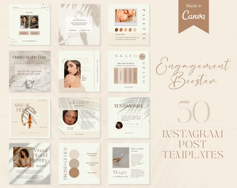 Instagram Post Templates   Canva Designs   Social Media Templates   Instagram Engagement Booster   Branding Kit