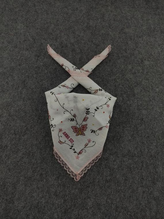 Vintage Anna Sui Handkerchief Neckerchief Headban… - image 1