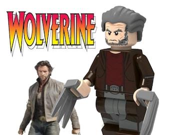 WOLVERINE A X-MEN CHRISTMAS FIGURE USA SELLER NEW MINIFIGURE FITS LEGOS