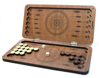 Special design Handmade Wooden Bag mini backgammon (24cm*24cm*2cm)