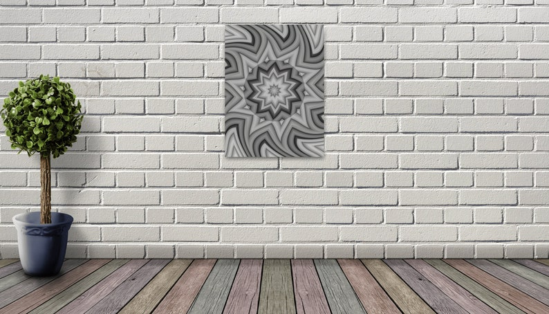 Mandala Art Islamic Design Pattern Wall Art Framed Canvas Ready to Hang Up on Your Wall