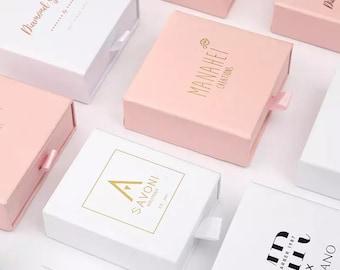 100pcs Jewelry Packaging with Logo, Custom Jewelry Box, Custom Logo Box, Logo Jewelry Box Bulk, Drawer Jewelry Box, Jewelry Box Personalized