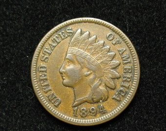 1894 Indian Head Penny one Cent vintage Collectable Coin US History in Numismatic Collectables