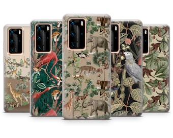 P40 Lite P30 Lite Jungle Safari Phone Case Animal Art Gel Cover for Mate 40 Pro P30 P40 P40 Lite E83 P30 Pro