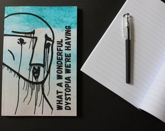 Notebook - Dystopian Literature Collection - Lined Notebook with Original Design - Bookish Gift for Fans of Dystopian Fiction