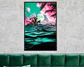 TROPICAL    Surreal Digital Collage Art Print 19 x 13