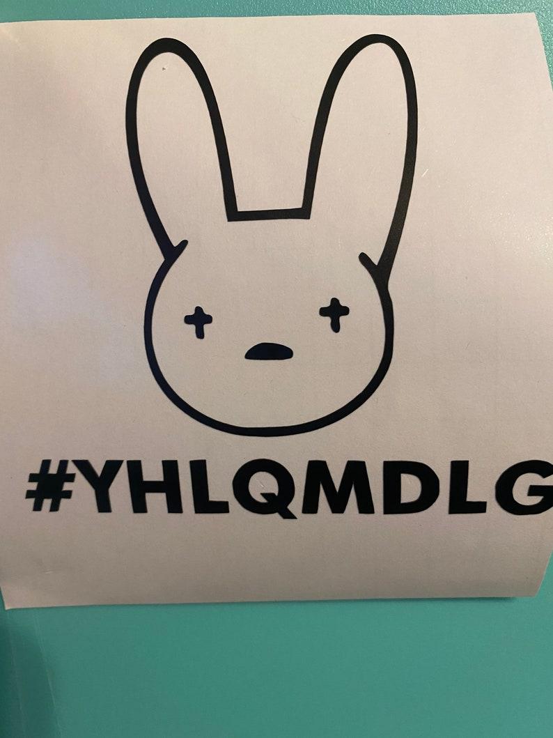 Bad bunny permanent vinyl decal sticker Bad bunny Car decal permanent sticker etc. Tumbler permanent decal sticker