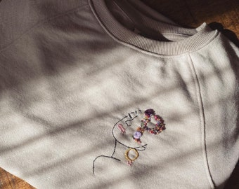 Personalized Sweatshirt - Hand embroidered sweater with initials