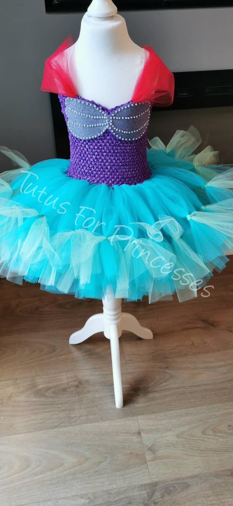 Photoshoot Custom Made Birthday Ariel Little Mermaid Inspired Tutu Dress