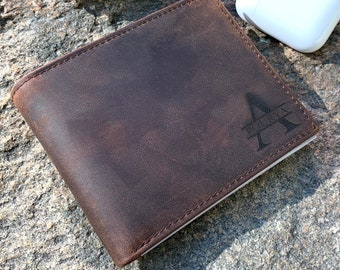 Anniversary Gifts for Him,Personalized Wallet,Mens WALLET,Gift for Boyfriend,ChristmasGift for Men,Gifts,Custom Leather WALLET, Fathers Day