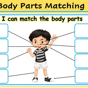 PDF Digital Download Toddler Learning 1 x Body Parts Placement Activity