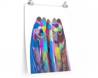 Reflection of Love Premium Matte Vertical Art Print