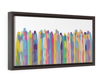 Celebrating Together Horizontal Framed Premium Gallery Wrap Canvas