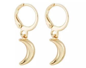 Bad Moon Rising OOAK beaded earrings