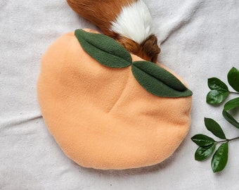 Cozy Peach cuddle sack, a peachy place for your guinea pigs to hideout.