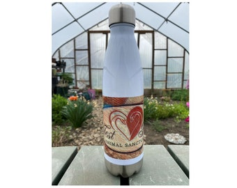 Etched Design Stainless Steel Water Bottle