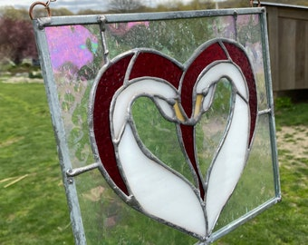 Swan Stained Glass