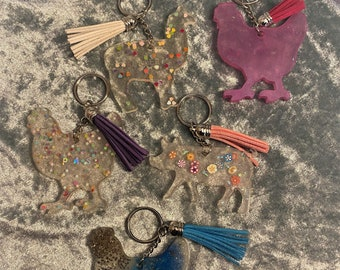 Resin Keychain with Tassel