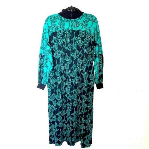 Vintage David Brown California Sweater Dress Teal