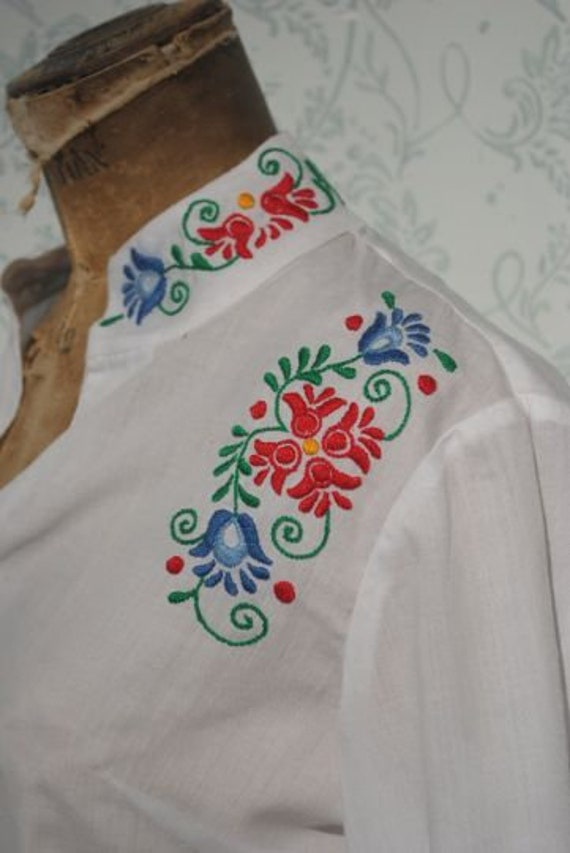 Embroidered shirt, peasant blouse, Hungarian folk