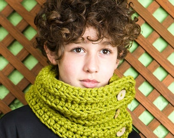 hand-knitted wool scarf, adjustable scarf girl, soft collar children, crochet neck/ Wool collar/Coll flat/ cabbage on laine/ wool necklace