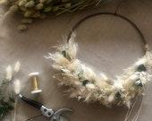 Bohokranz Floral Hoop beige delicate