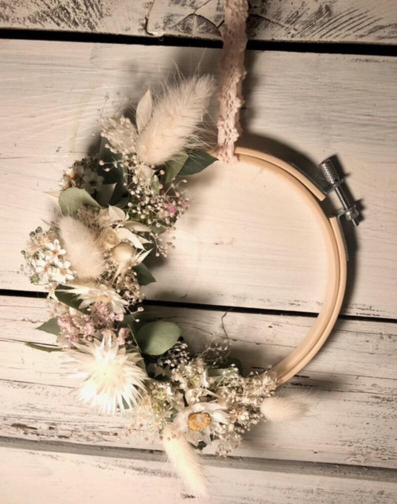 Bohokranz Floral Hoop Dry Flower Wreath Embroidery Frame image 0