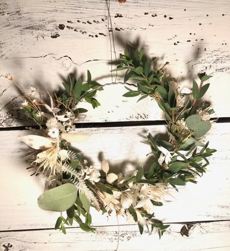 Flower wreath spring wreath dried flowers eucalyptus boho image 0