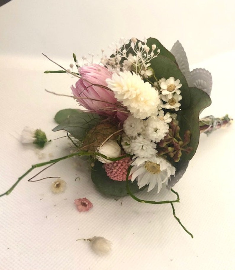 2 mini bouquets dried as a small gift for a special day image 1