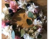Summer wreath hydrangeas Eucalyptus Nigella