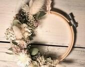 Floral Hoop Spring Wreath Dry Flowers Bohostyle