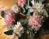 Hydrangea wreath with eucalyptus