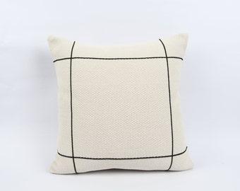 boho pillow ethnic pillow vintage pillow White hemp pillow decorative kilim pillow turkish kilim pillow 16x16 in\u00e7 pillow,sofa pillow